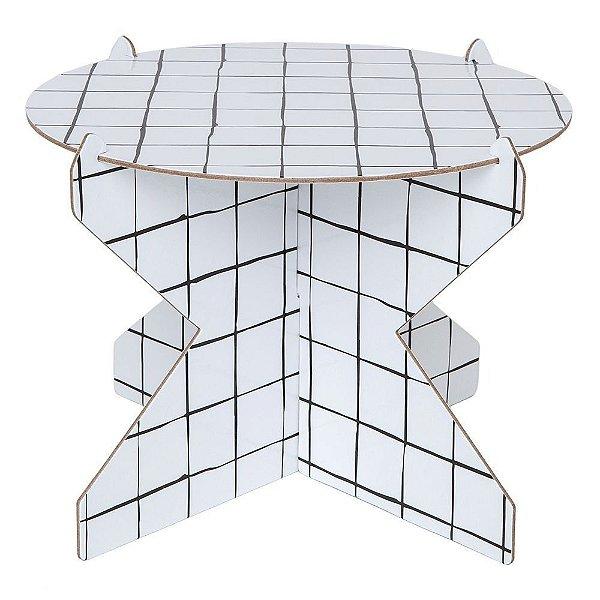 Boleira 20 cm preto e branco - Grid (papelão desmontável)