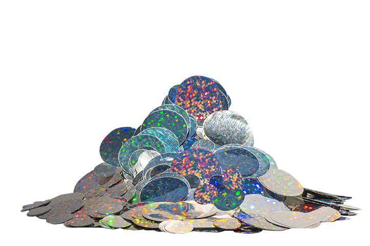 Confete bola metalizado - Holográfico (25g em 2 tamanhos)
