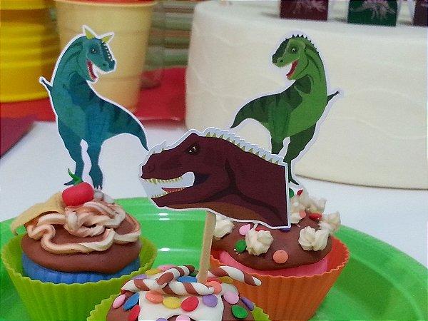 Tags para doces - festa Dinossauros (12 unidades)