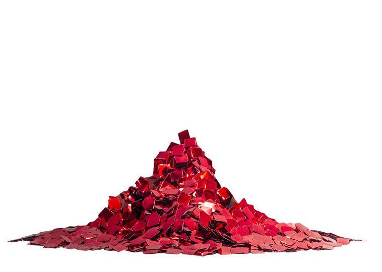 Mini Confete quadrado metalizado - Vermelho (25g)
