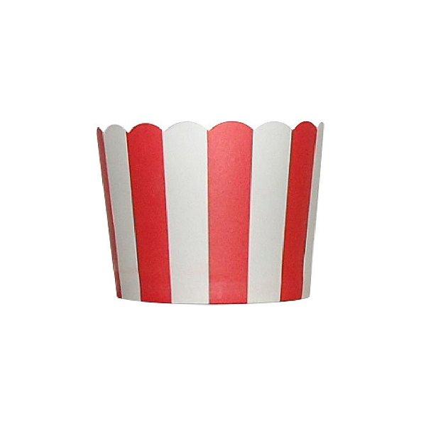 Formas de papel forneáveis para Cupcake - Vermelha (20 unidades)