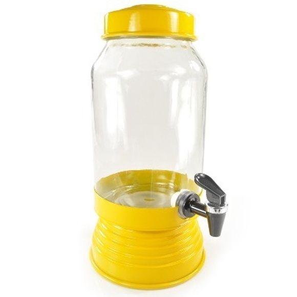 Suqueira de vidro amarela - 3,250 ml