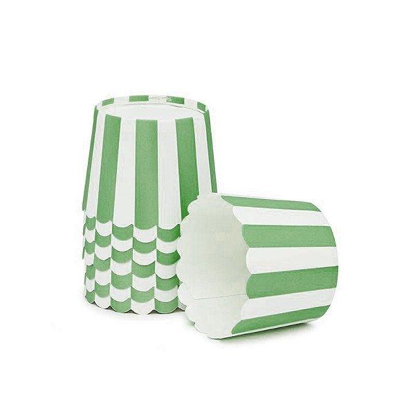 Formas de papel forneáveis para Cupcake - Verde Escuro (20 unidades)