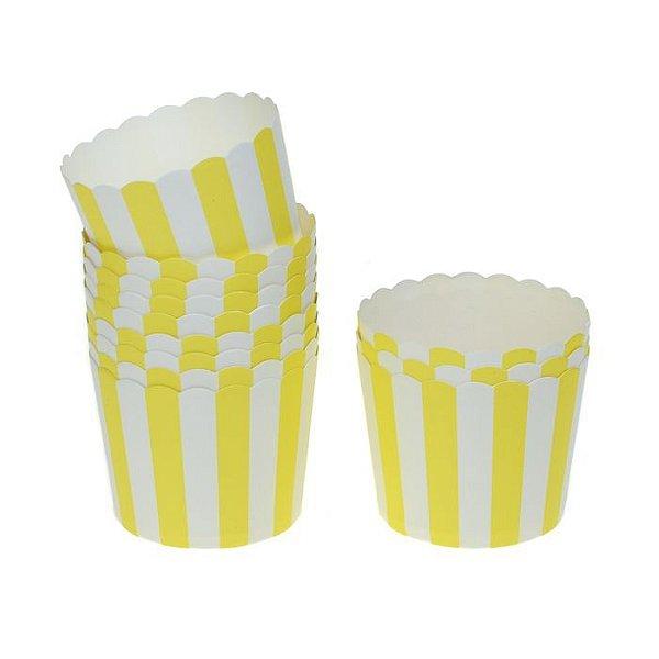 Formas de papel forneáveis para Cupcake - Amarelo (20 unidades)