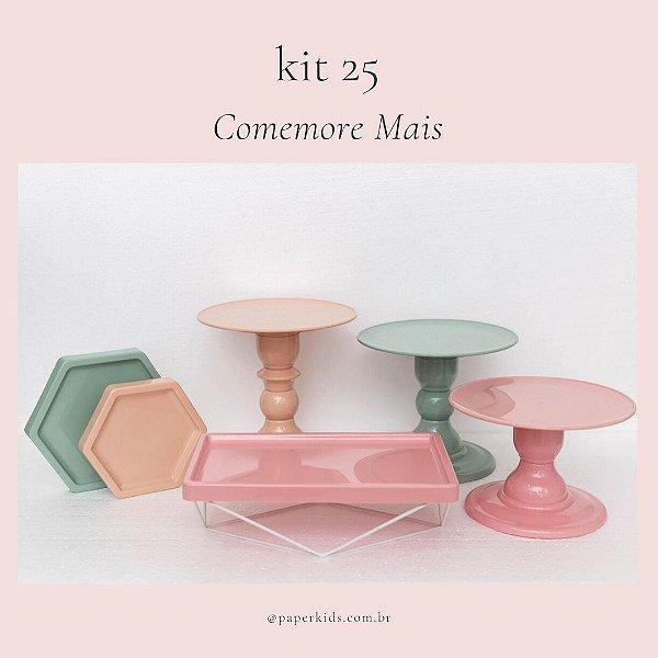 KIT COMEMORE MAIS 25 - Nude / Verde Menta / Rosa Seco
