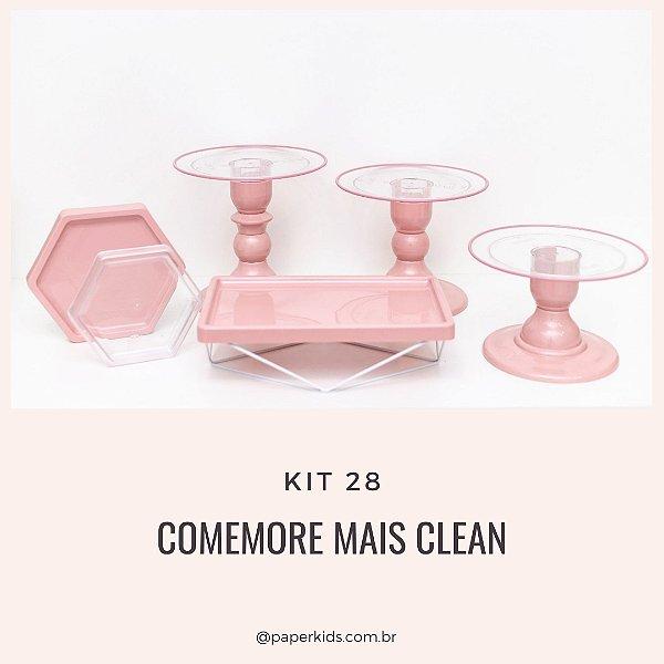 KIT COMEMORE MAIS CLEAN 28 - Rosa Seco