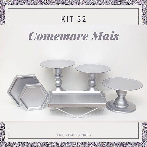 KIT COMEMORE MAIS 32 - Premium Prata