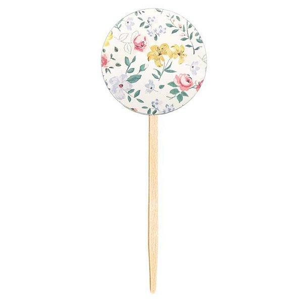 Topper para doces / cupcake - Floral (10 unidades)
