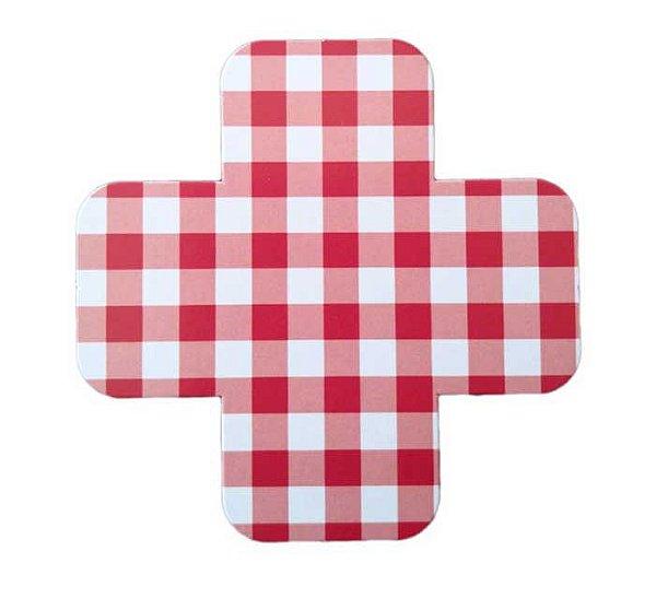 Forminha de doce - Vichy / Xadrez Vermelho (3 cm - 25 unidades)