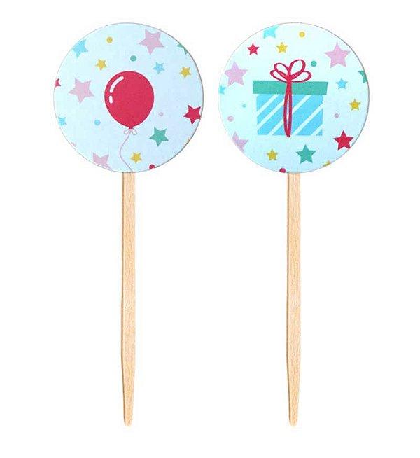 Topper para doces / cupcake - Dia de Festa (10 unidades)