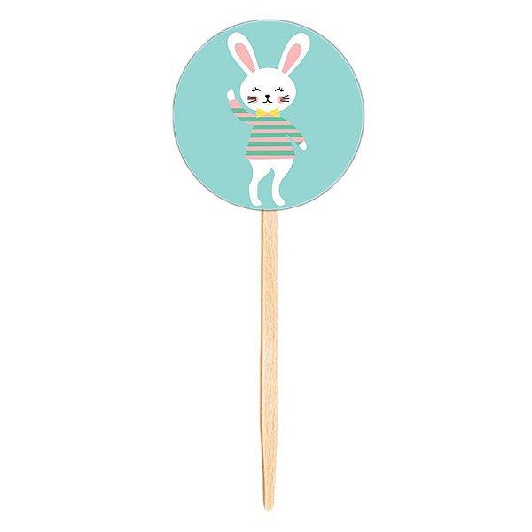 Topper para doces / cupcake - Coelho (10 unidades)