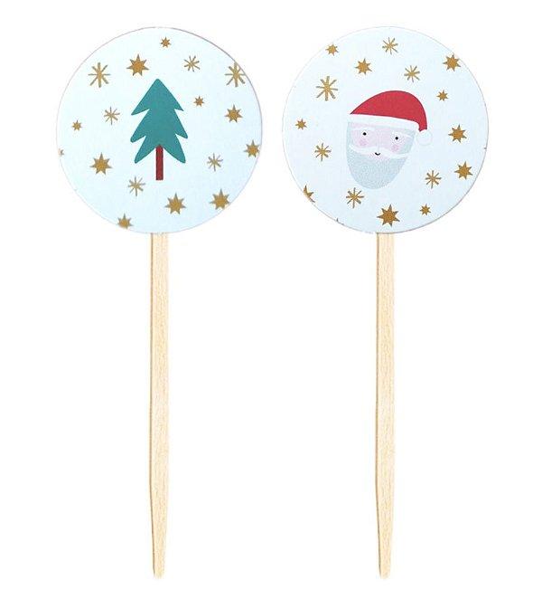 Topper para doces / cupcake - Natal (10 unidades)