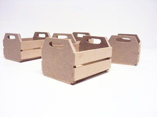 Kit 4 Caixotes de MDF - tam 8.5cm A x 10.5 L x 15.5 C