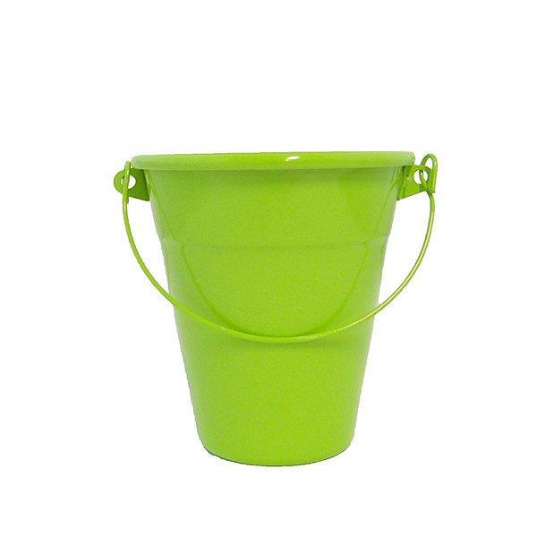 Baldinho de alumínio com alça - cor verde (4 unidades)
