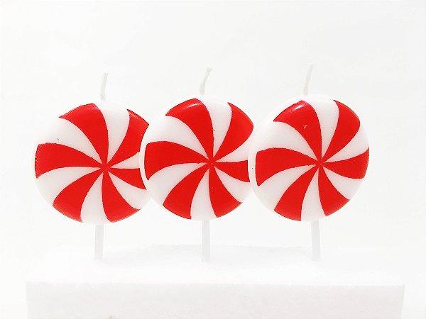 Vela de aniversário - Pirulito (3 unidades)