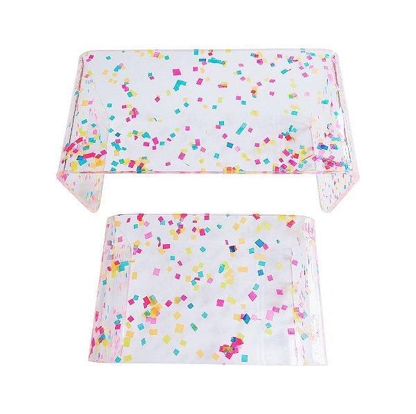 Suportes para doces  - Duo Confetes (acrílico - 2 unidades)