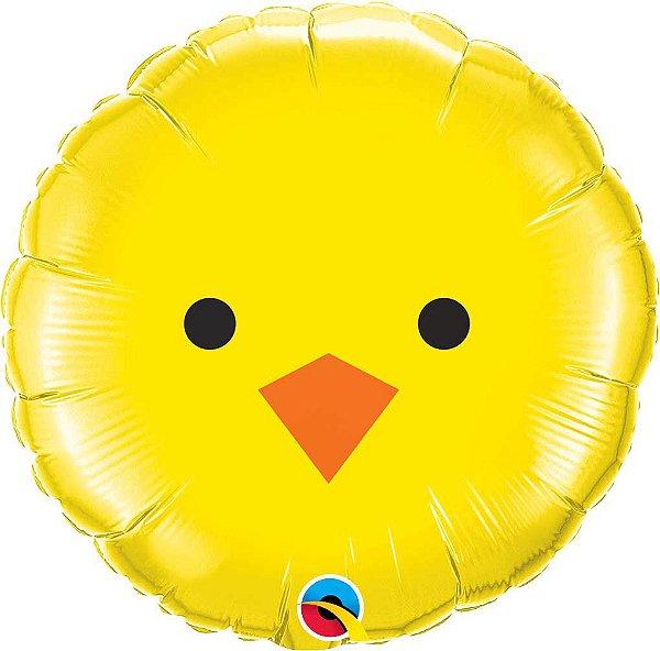 """Balão metalizado 18"""" - Pintinho (unidade - 46 cm)"""