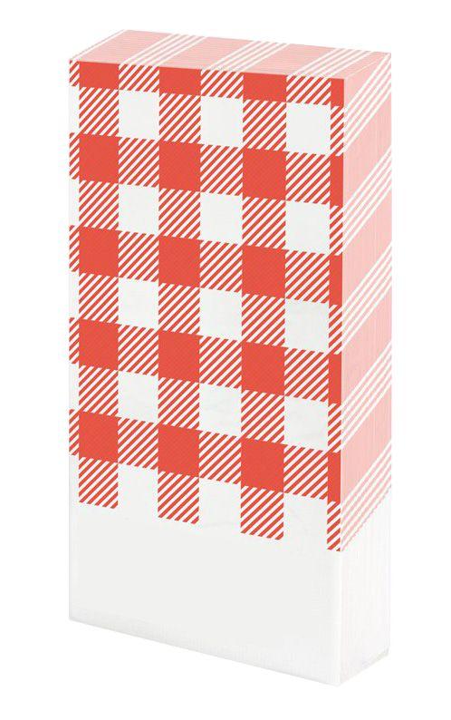 Guardanapo de mesa - Xadrez Vermelho (20 unidades)