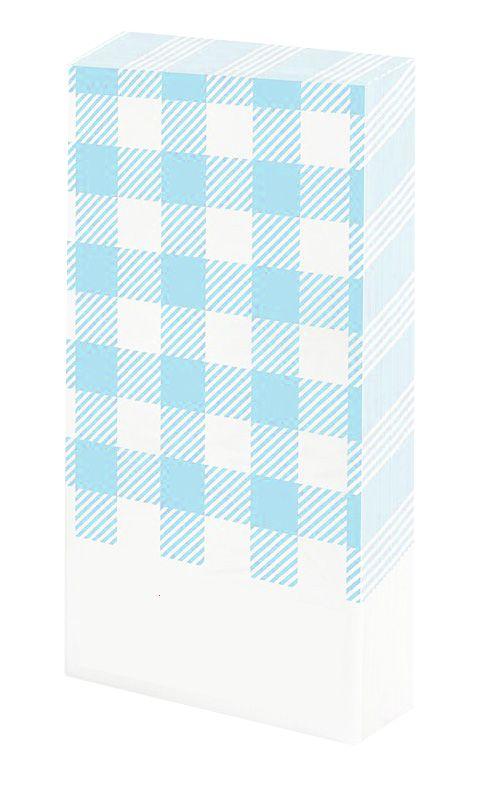 Guardanapo de mesa - Xadrez Azul Claro (20 unidades)