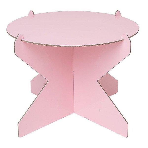 Boleira 26cm - Rosa Candy (papelão desmontável)