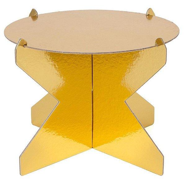 Boleira 26cm - Dourada (papelão desmontável)