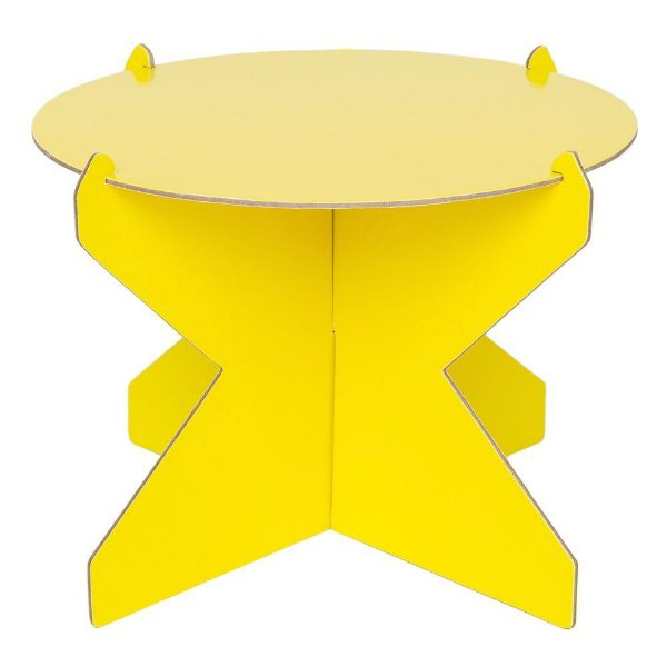 Boleira 20 cm  - Amarelo Siciliano (papelão desmontável)