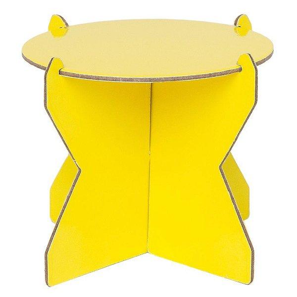 Mini Boleira 12 cm - Amarelo Siciliano (papelão desmontável)