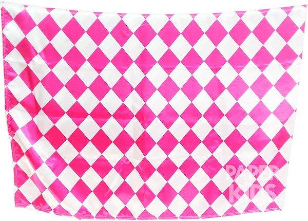 Toalha de mesa para festa - estampa losango Pink (cetim)