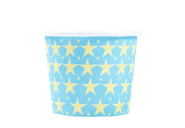 Mini Copo de papel biodegradável - Estrelas (16 unidades)