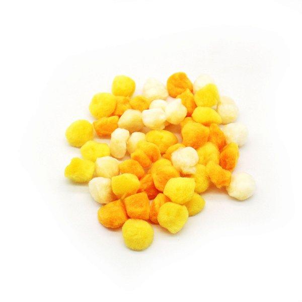 Pompom cores sortidas - Tons de Amarelo (2 cm)
