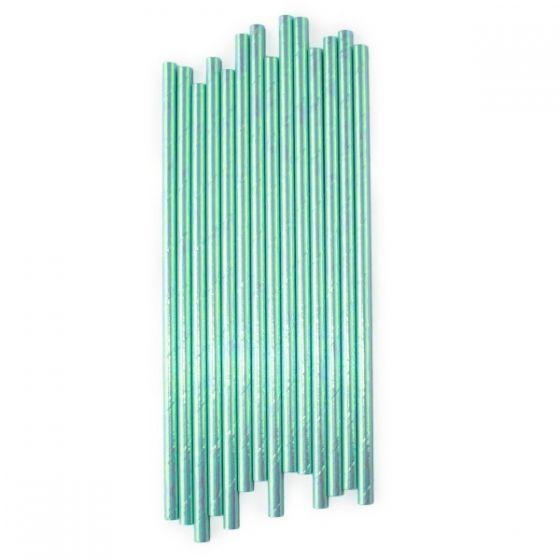 Canudo de papel furta cor Verde Claro - 20 unidades