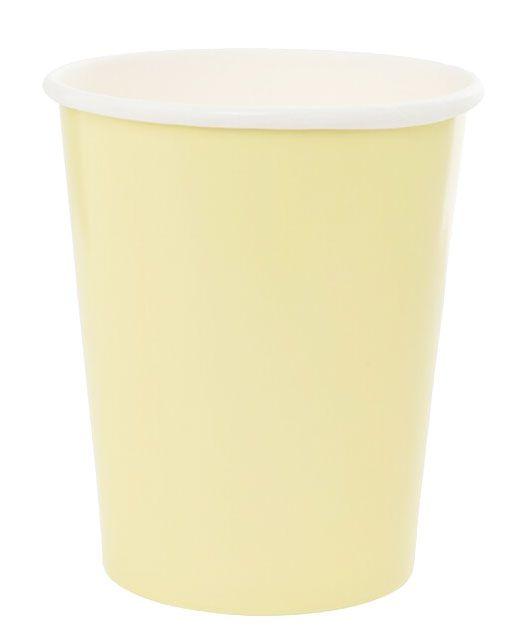 Copo de papel - Amarelo Candy (8 unidades)