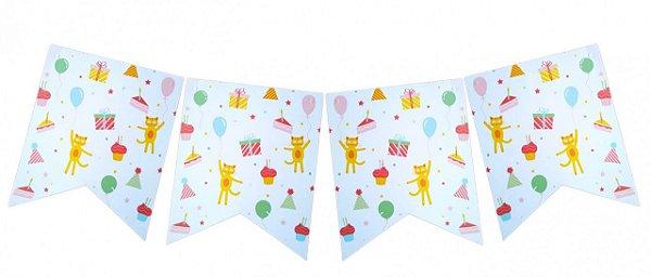 Bandeirola de papel - Dia de Festa (12 peças + cordão)