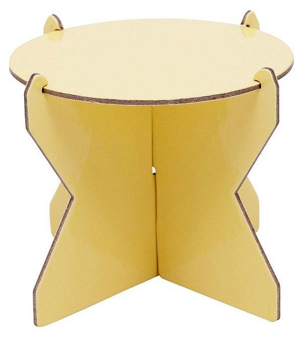 Mini Boleira 12 cm - Amarelo Candy (papelão desmontável)
