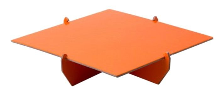 Bandeja Quadrada 20x20 - Laranja (papelão desmontável)