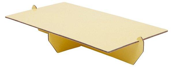 Bandeja retangular 14x25 cm - Amarelo Candy (papelão desmontável)