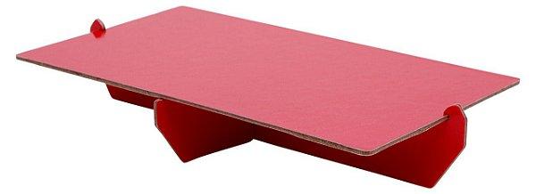 Bandeja retangular 14x25 cm - Vermelho (papelão desmontável)