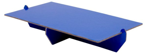 Bandeja retangular 14x25 cm - Azul (papelão desmontável)