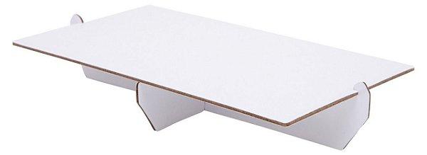 Bandeja retangular 14x25 cm - Branca (papelão desmontável)
