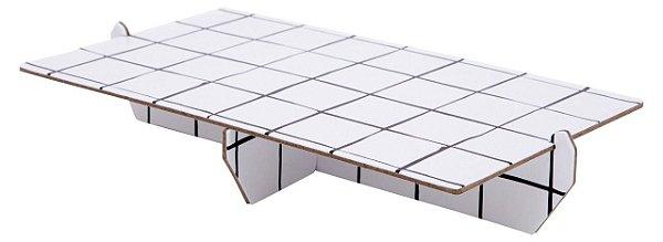 Bandeja retangular 14x25 cm preto e branco - Grid (papelão desmontável)