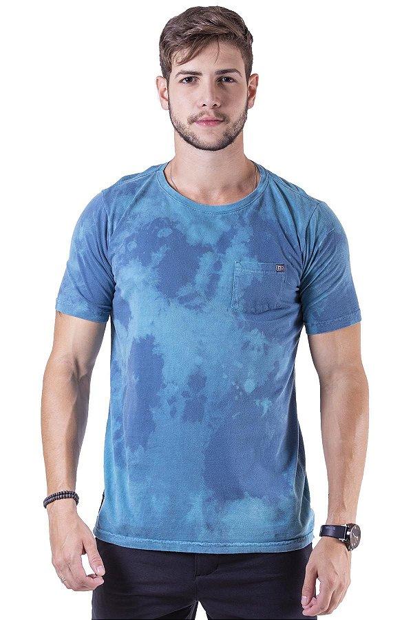 Camiseta Manga Curta Tingida Em Tecido Especial