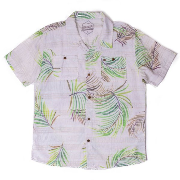 Camisa Manga Curta Em Estampa Floral Diferenciada