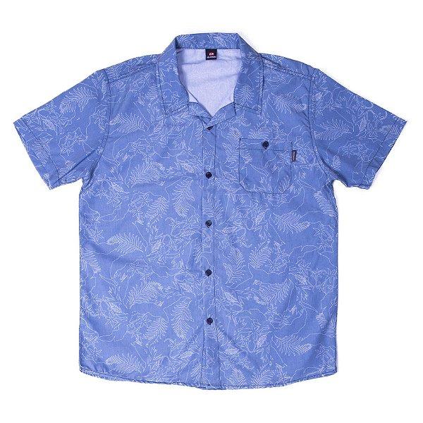 """Camisa Manga Curta Em Tecido Work Class Com Botão Com Estampa Diferenciada """"Coleção Indonésia"""""""