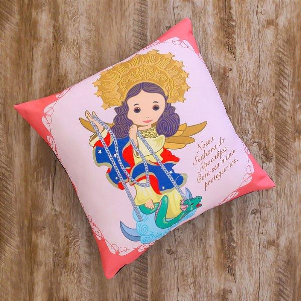 Almofada Coleção Nossa Senhora do Apocalipse Rosa