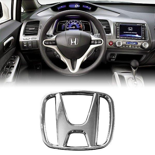 Simbolo Do Volante Honda New Civic City E Fit Cromado