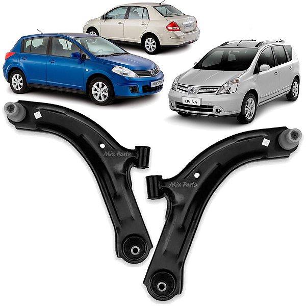 Bandeja Dianteira Nissan Tiida e Livina 2007 a 2015 Balança com Pivô e Bucha