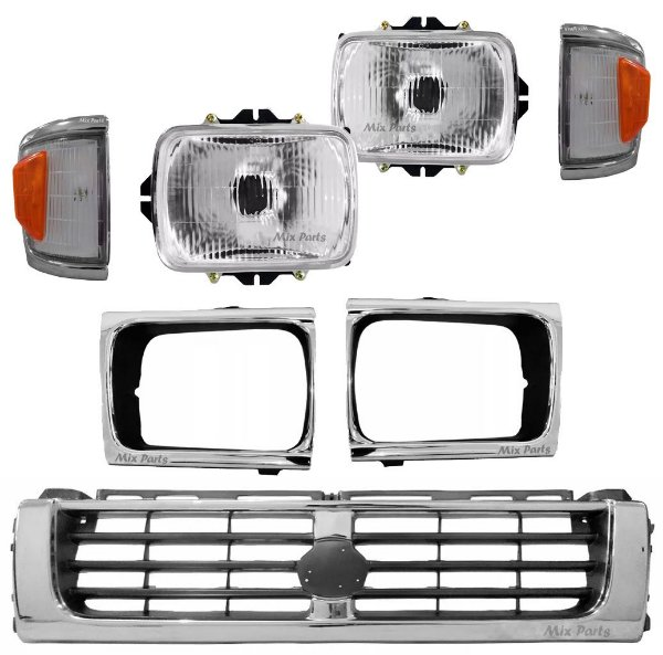 Kit Mini Frente Cromada Hilux 4x4 1993 a 2001
