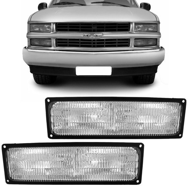 Lanterna DIanteira Cristal Pisca Inferior Silverado 1997 a 2004