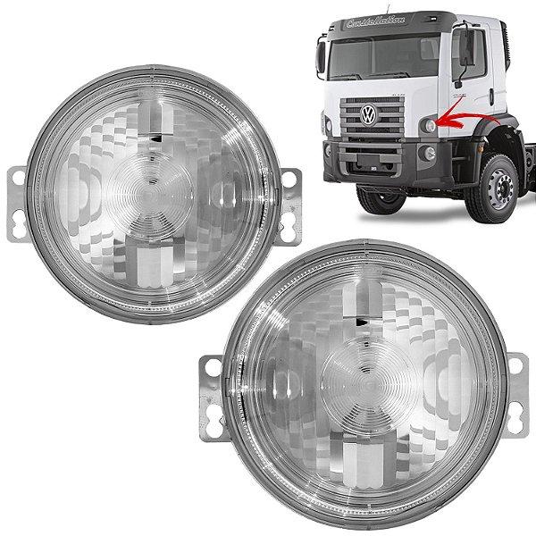 Par de Lanterna Dianteira Caminhão VW Constellation 2006 em Diante - Pisca Original