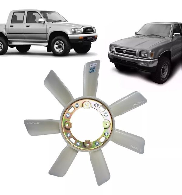 Helice Do Radiador Toyota Hilux Diesel 1992 A 2004 - 7 Pás